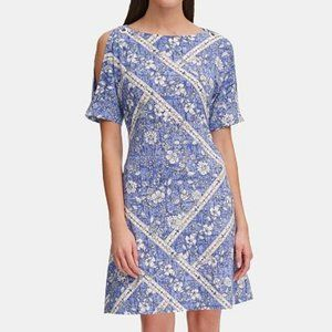 NWT Tommy Hilfiger Paisley Grommet Jersey Dress